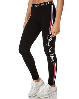 BLACK WOMENS CLOTHING STUSSY PANTS - ST176607BLK