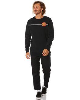 BLACK MENS CLOTHING SANTA CRUZ JUMPERS - SC-MFB0614BLK