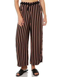BLACK WOMENS CLOTHING BILLABONG PANTS - 6595406BLK