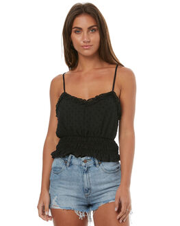 BLACK WOMENS CLOTHING MINKPINK FASHION TOPS - MP1707500BLK