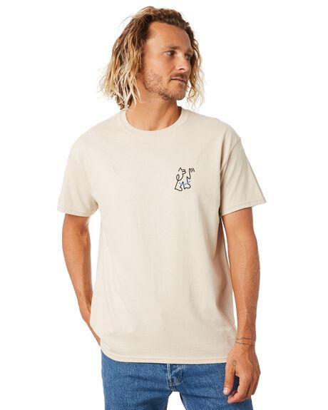 SAND MENS CLOTHING BRIXTON TEES - 16272SAND