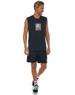 FADED BLACK MENS CLOTHING AFENDS SINGLETS - M181080FBLK
