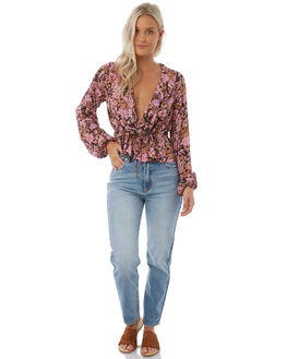 LILAC AUTUMN WOMENS CLOTHING ROLLAS FASHION TOPS - 12552LILAC