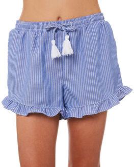 BLUE WHITE STRIPE KIDS GIRLS EVES SISTER SHORTS - 9920039BLWHT