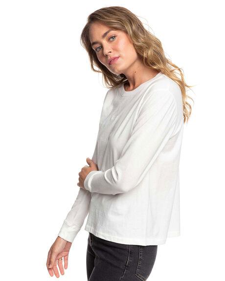 SNOW WHITE WOMENS CLOTHING ROXY TEES - ERJZT04820-WBK0