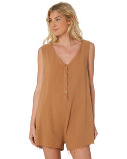 TOBACCO WOMENS CLOTHING THRILLS PLAYSUITS + OVERALLS - WTR8-914JTOB
