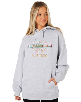 GREY WOMENS CLOTHING STUSSY JUMPERS - ST187308GRY