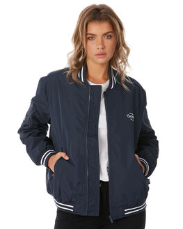 NAVY WOMENS CLOTHING RPM JACKETS - 8AWT19ANAVY