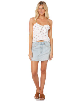 WHITE WOMENS CLOTHING ALL ABOUT EVE FASHION TOPS - 6403080WHT