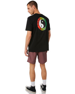 BLACK FADE MENS CLOTHING TOWN AND COUNTRY TEES - TTE111GBLKFD