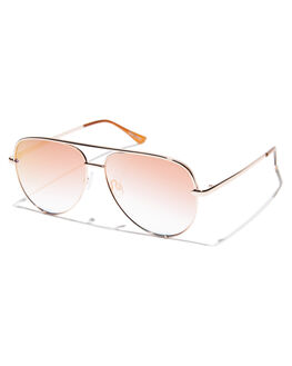ROSE WOMENS ACCESSORIES QUAY EYEWEAR SUNGLASSES - QC-000142RSECP