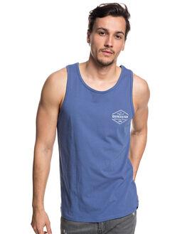 BIJOU BLUE MENS CLOTHING QUIKSILVER SINGLETS - EQYZT04979BNG0