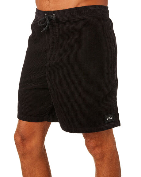 VINTAGE BLACK MENS CLOTHING RUSTY SHORTS - WKM0929VBL