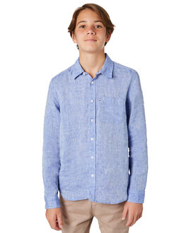 DARK CHAMBRAY KIDS BOYS ACADEMY BRAND TOPS - BBA802DKCH