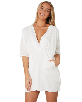 WHITE WOMENS CLOTHING SANCIA DRESSES - 813AWHT