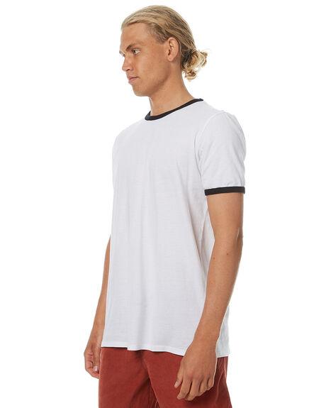 WHITE BLACK OUTLET MENS SWELL TEES - S5174016WBLK