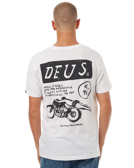 WHITE MENS CLOTHING DEUS EX MACHINA TEES - DMF71839BWHT