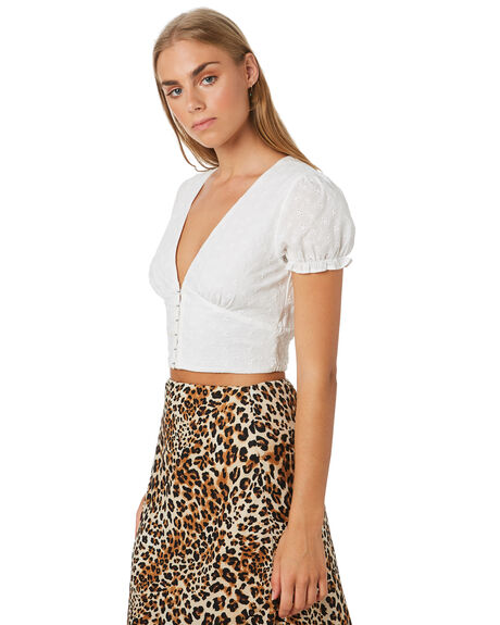 WHITE WOMENS CLOTHING LULU AND ROSE FASHION TOPS - LU23884WHT