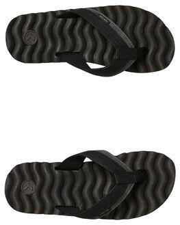 BLACK STRIPE MENS FOOTWEAR KUSTOM THONGS - 4992218SBSTRP
