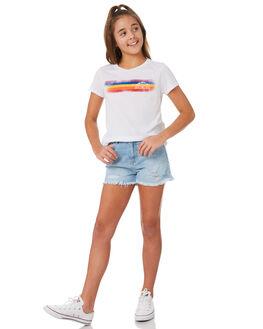 WHITE KIDS GIRLS VOLCOM TEES - B35318Y0WHT