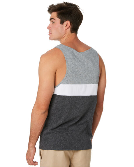 BLACK MENS CLOTHING RIP CURL SINGLETS - CTESN20090