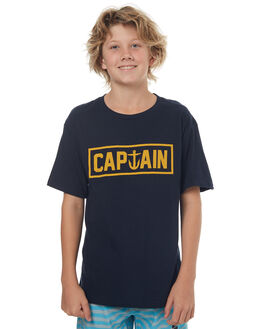 NAVY KIDS BOYS CAPTAIN FIN CO. TEES - CFB3041600NVY