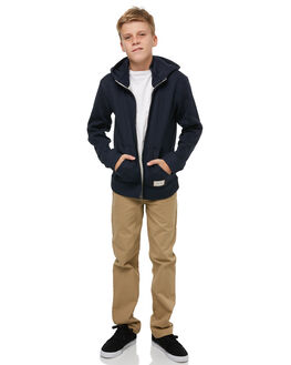 NAVY BLAZER HEATHER KIDS BOYS QUIKSILVER JUMPERS - EQBFT03388BYJH