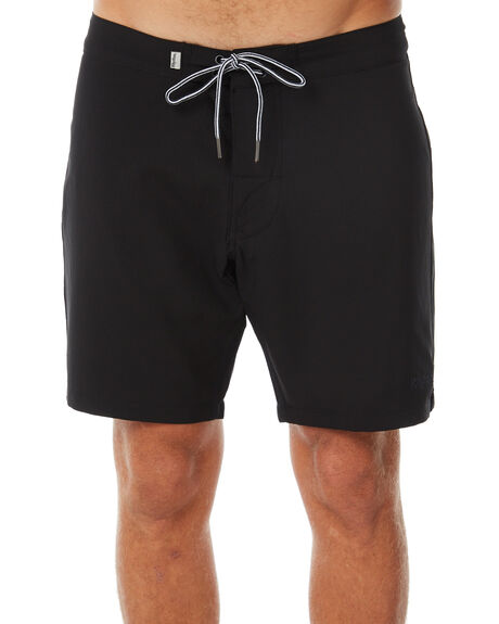 BLACK MENS CLOTHING RHYTHM BOARDSHORTS - APR18M-TR05BLK