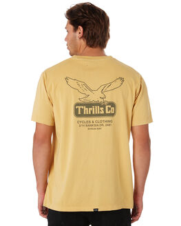 HERITAGE YELLOW MENS CLOTHING THRILLS TEES - TS9-116KHTYEL