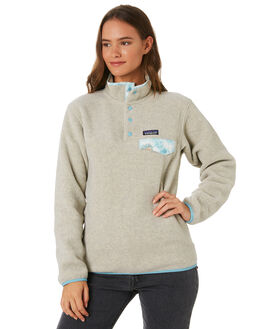 OATMEAL HEATHER WOMENS CLOTHING PATAGONIA JUMPERS - 25455OAT