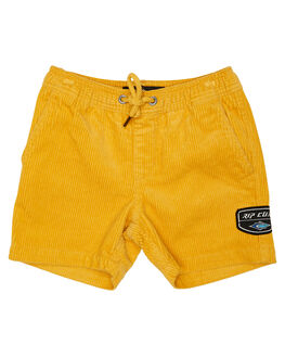 BRIGHT YELLOW KIDS BOYS RIP CURL SHORTS - OWALR19328