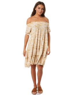 OCHRE PALM WOMENS CLOTHING SAINT HELENA DRESSES - SH17HS408OPALM