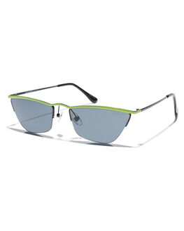 NEON LIME WOMENS ACCESSORIES BOND EYE SUNGLASSES - BES010LIM