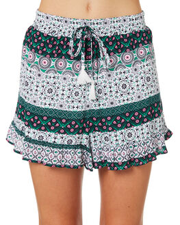 WARRIOR PRINT OUTLET WOMENS SASS SHORTS - 12748PWSSMULTI