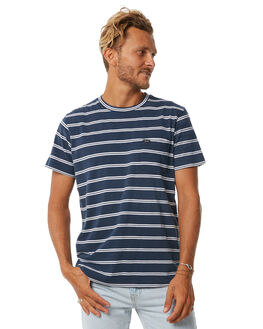 FEDERAL BLUE MENS CLOTHING RVCA TEES - R171071FBLU