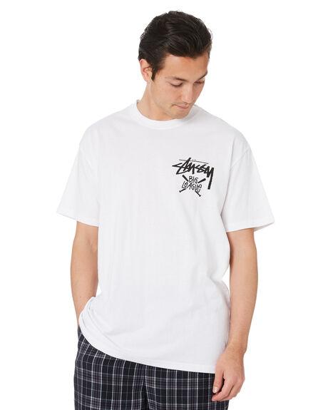WHITE MENS CLOTHING STUSSY TEES - ST007001WHT
