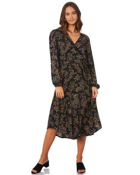 BLACK WOMENS CLOTHING THE HIDDEN WAY DRESSES - H8194442BLACK
