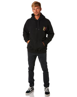 BLACK MENS CLOTHING RUSTY JUMPERS - FTM0880BLK