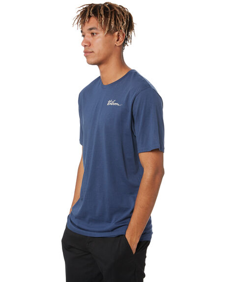 BLUE MENS CLOTHING VOLCOM TEES - A5002007BLU