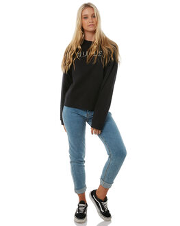 BLACK WOMENS CLOTHING HURLEY JUMPERS - AGFLRWL00A