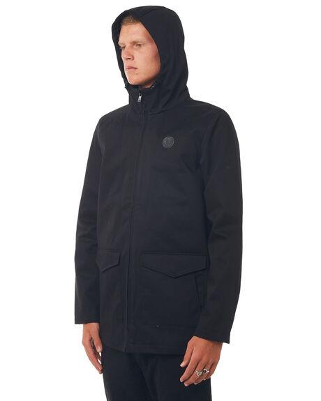 BLACK MENS CLOTHING DC SHOES JACKETS - EDYJK03127KVJ0