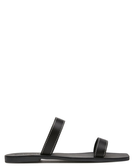BLACK SATIN WOMENS FOOTWEAR CAVERLEY SLIDES - 202S122SBLK