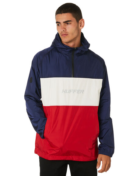 NAVYRED MENS CLOTHING HUFFER JACKETS - MJA91S3802NVYRD