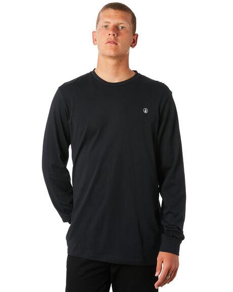 BLACK MENS CLOTHING VOLCOM TEES - A3611676BLK