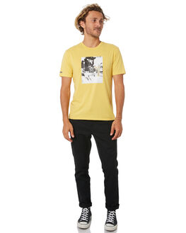 YELLOW MENS CLOTHING BRIXTON TEES - 02773YELLW