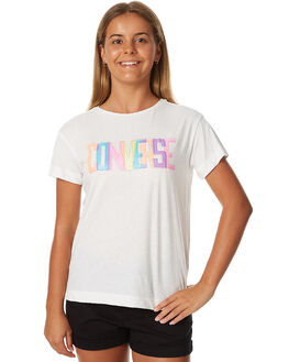 WHITE SNOW HEATHER KIDS GIRLS CONVERSE TEES - R466262W3E