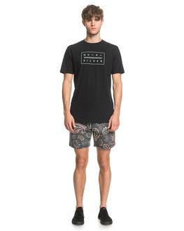BLACK MENS CLOTHING QUIKSILVER TEES - EQYZT05774-KVJ0