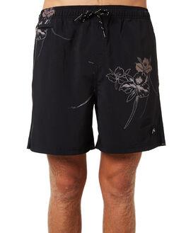 BLACK MENS CLOTHING RUSTY BOARDSHORTS - BSM1277BLK