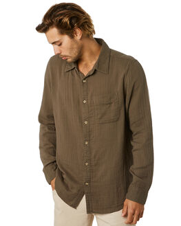 ASH GREEN MENS CLOTHING MCTAVISH SHIRTS - MA-20SH-02ASHGN