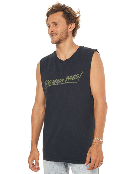BLACK MENS CLOTHING INSIGHT SINGLETS - 5000000342BLK